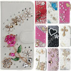 Jewelled Handmade Diamond Crystal Leather Flip Wallet Case Stand Cover fr HuaWei