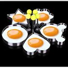 fried egg mould - Stainless Steel Egg Mold Pancake Mould Ring Fried Cooking Shaper Tools NE