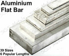 Aluminium Flat Bar 39 Sizes Available & 6 lengths to choose from Free P&P