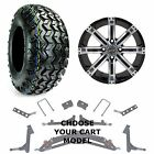 """Club Car Jake's 6"""" Golf Cart Lift Kit, 23"""" Tire, and 14"""" Tempest Wheel Combo"""