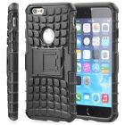 For Apple iPhone 6 6s Hybrid TPU Heavy Duty Rugged Grip Case Cover w/ Kickstand