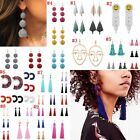 Women Bohemian Beads Tassel Earrings Crystal Dangle Drop Beach Earring Jewelry