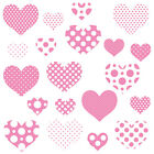Childrens Pink Love Heart Wall Stickers PolkaDotHearts Hart.3.M