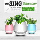 Wireless Creative Bluetooth Flowerpot Speaker Musical Plant Pot with Night light