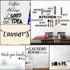 kitchen wall decor - DIY Removable Art Quote Wall Sticker Decal Home Mural Decor For Kitchen Laundry