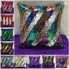 Fashion Sequin Magic Mermaid Throw Pillow Cover Swipe Sofa Cushion Case Decor