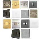 1&2 Gang Wall Light Switch Electrical Single Double Switches White Chrome