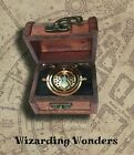 Harry Potter Time Turner Necklace Hermione Granger In Vintage Trunk Gift Box