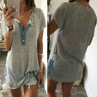 Fashion Women Summer T-Shirt Cotton Short Sleeve Loose Tee Blouse Casual Tops