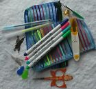 CROSS STITCH TOOLS  KIT - with zippered bag - VALUE PACK - WITH BONUS FREE PEN