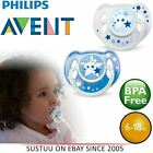 Philips Avent Glow in Dark Orthodontic Baby Pacifier Dummy Night Time Soother