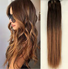 """18"""" Straight Clip in Human Hair Extensions, Ombre Hairpieces Full Head 6pcs Pack"""