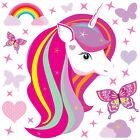 Magical Unicorn Horse & Rainbow Stars Childrens Wall Stickers Celebrity Unic03