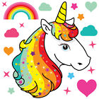 Magical Unicorn Horse & Rainbow Stars Childrens Wall Stickers Party Unic05