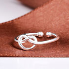 UK LADIES CUTE 925 STERLING SILVER PLT ADJUSTABLE OPEN BAND THUMB Stacking RING