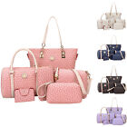 6PCS Stylish Women's Shoulder Bags Satchel Handbags Crossbody Bag Purses Set