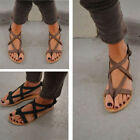 Women's Roman Goth Gladiator Thong Sandals Flat Rome Sandals Summer Shoes
