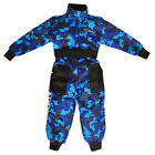 LEO Kids Youth Motocross Camo Race Suit Overalls Clothing Quad Off Road Blue