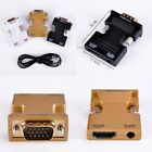 New HDMI Male to VGA Female 1080p Video Converter Adapter With Audio Cable 50mm