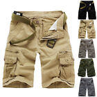 New~Men Summer Army Shorts Baggy Short Pant Cargo Tactical Combat Cotton Shorts