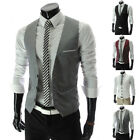Latest Men Formal Business Casual Dress Vest Suit Slim Fit Tuxedo Waistcoat Coat