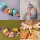 2017 Newborn Baby Girls Boys Crochet Knit Costume Prop Outfits Photo Photography