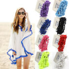 20Yards/Lot 10MM PomPom Trim Ball Fringe Ribbon Sewing Lace Home Party Decor DIY