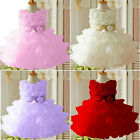 Baby Toddler Girls Clothes Flower Princess Wedding Party Pageant TUTU Dress 2-7Y