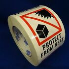 "Protect From Heat 3""x4"" - Packing Shipping Handling Warning Label Stickers"