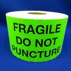 "Fragile Do Not Puncture 3""x5"" - Packing Shipping Handling Warning Label Stickers"