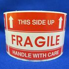 "This Side Up Fragile Handle With Care 2""x3"" - Packing Shipping Handling Labels"