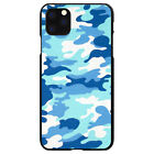 Hard Case Cover for iPhone 5 SE 6 S 7 8 PLUS X Blue White Camouflage