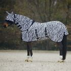 NEW FLY HORSE RUGS FIXED FULL NECK COMBO BELLY COVER FREE MASK - ALL SIZES