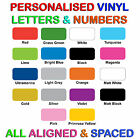 Vinyl letters & Numbers Personalised - Various Colours!!