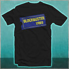 Blockbuster Video Logo 80's 90s Kid Memories Movie Rental Black T-shirt All Size image