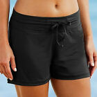 Plus Size Womens Summer Swim Boy Shorts Swimming Surf Beach Shorts Elastic FO