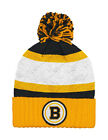 Mitchell & Ness NHL Beanie Boston Bruins Black/Gold/White Quilted Pom Knit Hat