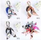 Lady silk fur ball key chain crystal purse fashion bag charm car holder tassel