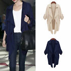 Stylish Women Autumn Trench Coat Long Jacket Blazer Casual Outwear Cardigan S-XL