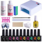 Hot UV/LED Nail Gel Polish Deluxe Starter KIT Set 36W UV Lamp Soak Off Varnish