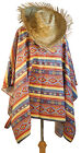 Wild West-Cowboy-Bandit MEXICAN PONCHO & HAT SET Fancy Dress One Size Only