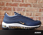 Nike Air Max 97 OG Midnight Navy Blue Metallic Gold Silver 921826-400 Size 10.5