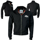 Lonsdale Harrington Jacket Black Classic England Style Slim-Fit Jacke Blouson