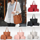 4pcs Fashion PU Leather Handbag Shoulder Bag Tote Purse Satchel Clutch for Women
