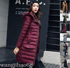 Women's Winter jacket Hooded Down Cotton Long Outwear Ladies Warm Coat