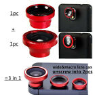 3 in 1 Fisheye Wide Angle Macro Lens For Mobilephone Camera Photograph Shoot Kit