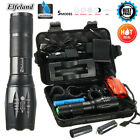15000Lm Elfeland T6 Tactical Flashlight LED Zoomable Torch Lamp Light Charger