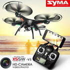 Black Syma X5SW Wifi FPV 2.4G RC Quadcopter Drone with HD Camera + 5 Batteries