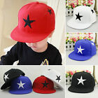 Kids Boys Girls Baseball Caps Snapback Adjustable Star Printed Hip-hop Child Hat