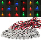 12 24 36V 10mm LED Dash Panel Warning Pilot Light Indicator Lamp Car Boat Truck